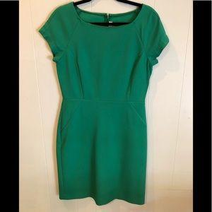 JCREW GREEN DRESS